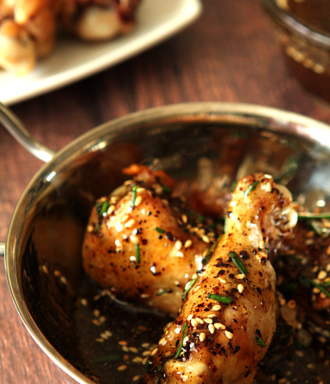 Chicken Wings with Honey and Za'atar.