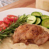 Chicken with Garlic and Parmesan Polenta