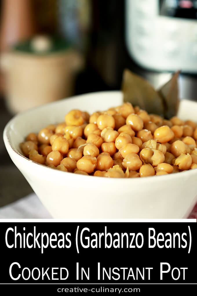 Chickpeas (Garbanzo Beans) Cooked in the Instant Pot