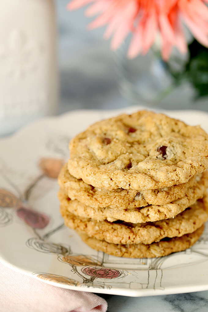 Barbara Bush's Famous Chocolate Chip Cookies on a Plate