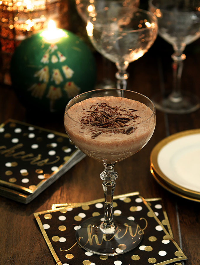 Chocolate Eggnog with Bourbon