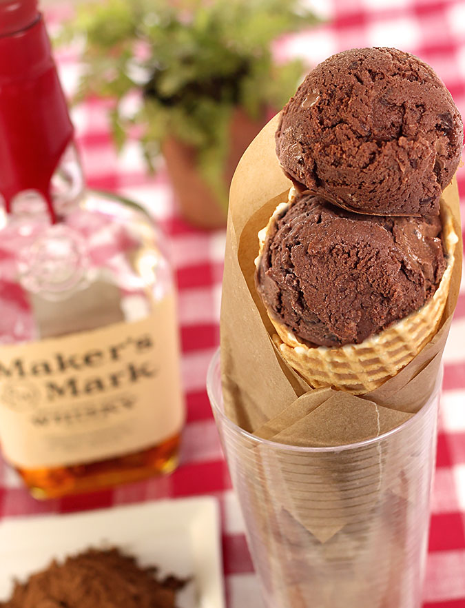 Chocolate Gelato with Bourbon and Chocolate Chips