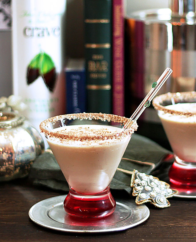 Chocolate Mint Liqueur and Vodka Shake