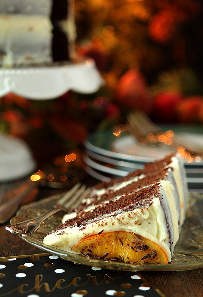 Chocolate Orange Stout Cake with Orange Buttercream Frosting