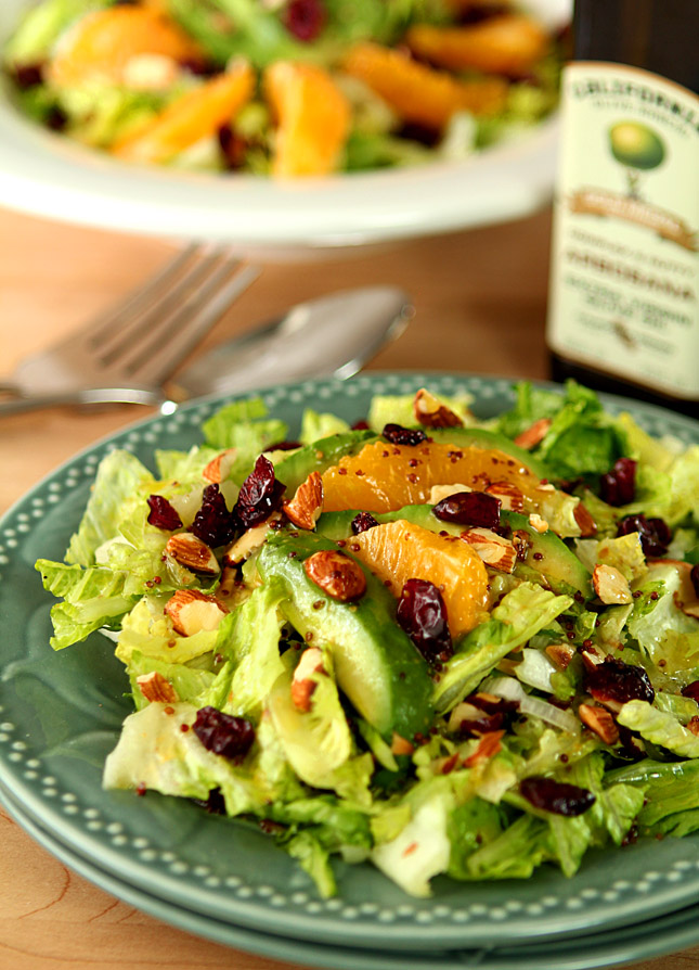 Avocado and orange chopped salad with orange honey mustard dressing creative culinary a - Creatie dressing ...