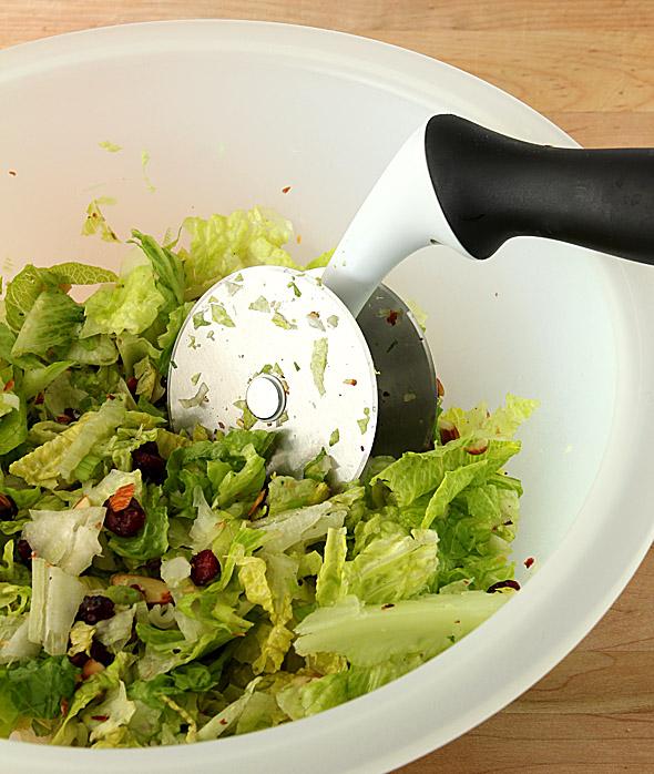 Chopped Salad with Avocado and Orange with an Orange Honey Mustard Dressing.