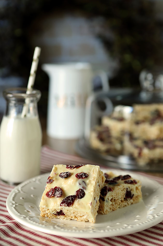 Cranberry Bliss Rice Krispie Treats