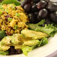 Curried Chicken Salad with Dried Cranberries and Toasted Walnuts