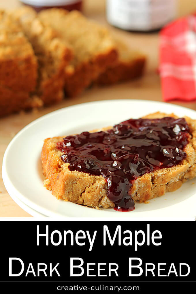 Honey Maple Dark Beer Bread PIN