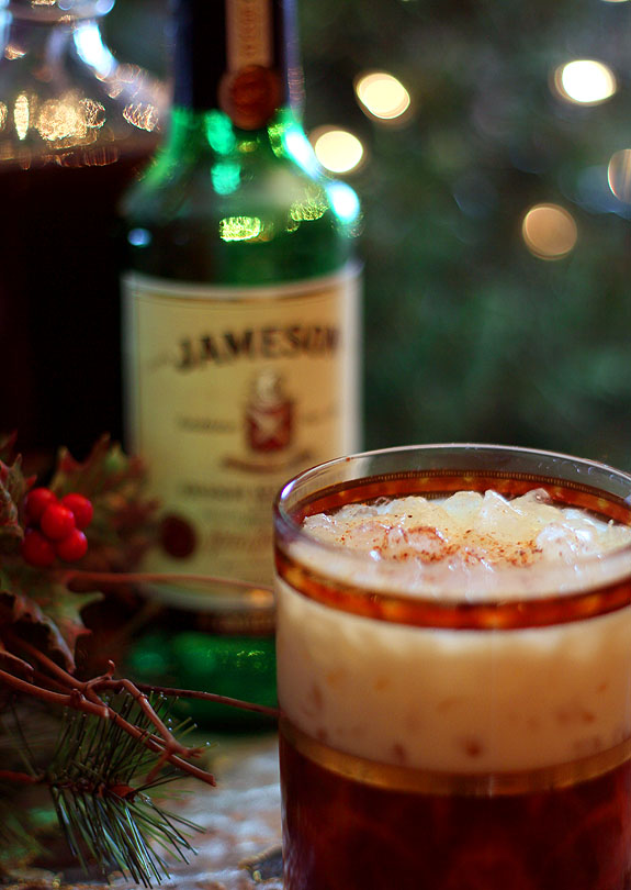 Coffee Liqueur, Eggnog and Jameson Irish Whiskey