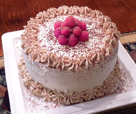 Espresso-Chocolate Layer Cake with White Chocolate ...