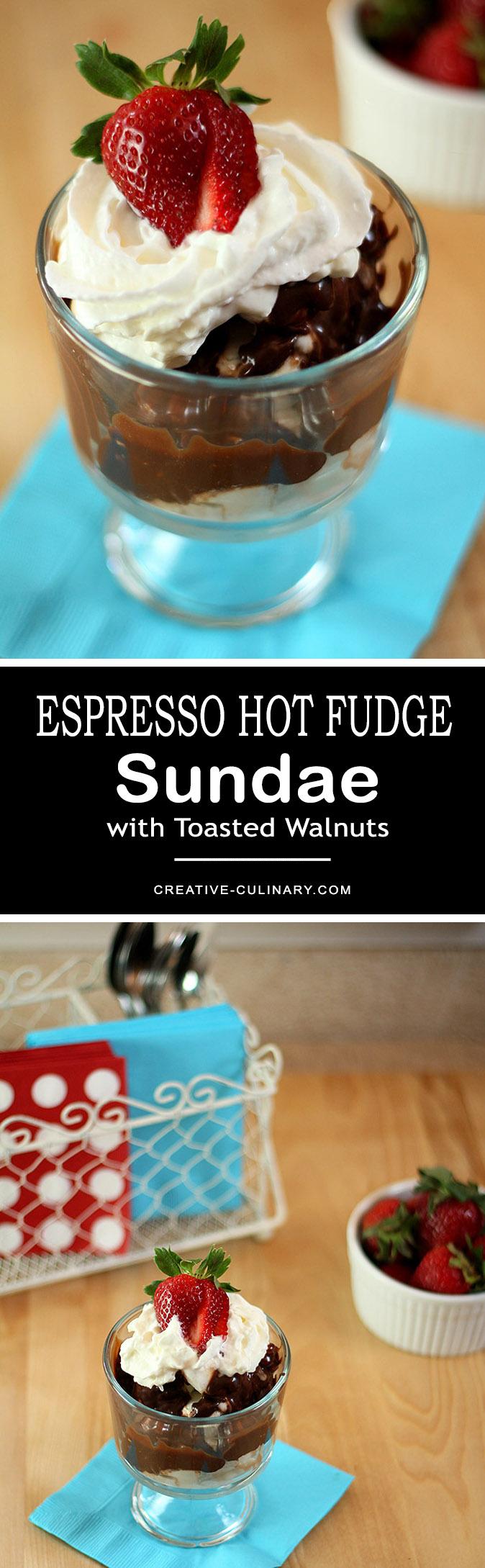 Espresso Hot Fudge Sundae