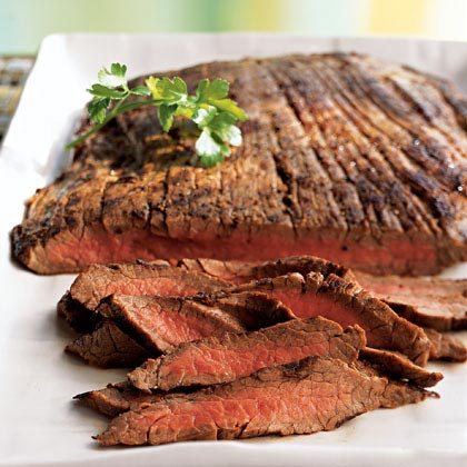 Marinated Grilled Flank Steak for Fajitas