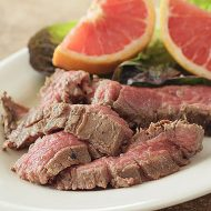 Grapefruit, Ginger and Honey Flank Steak