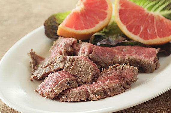 Grapefruit, Ginger and Honey Flank Steak