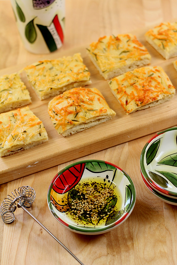 Italian Focaccia Bread with Olive Oil, Rosemary and Garlic | Creative ...