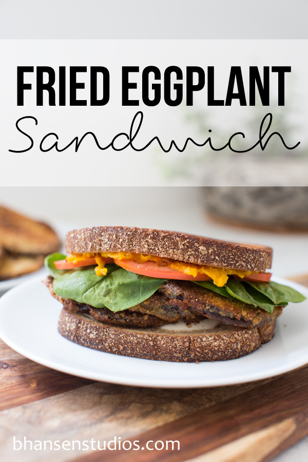 Fried Eggplant Sandwich