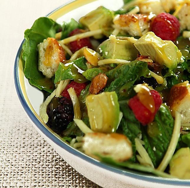 Fruit salad with Orange Honey Mustard Dressing