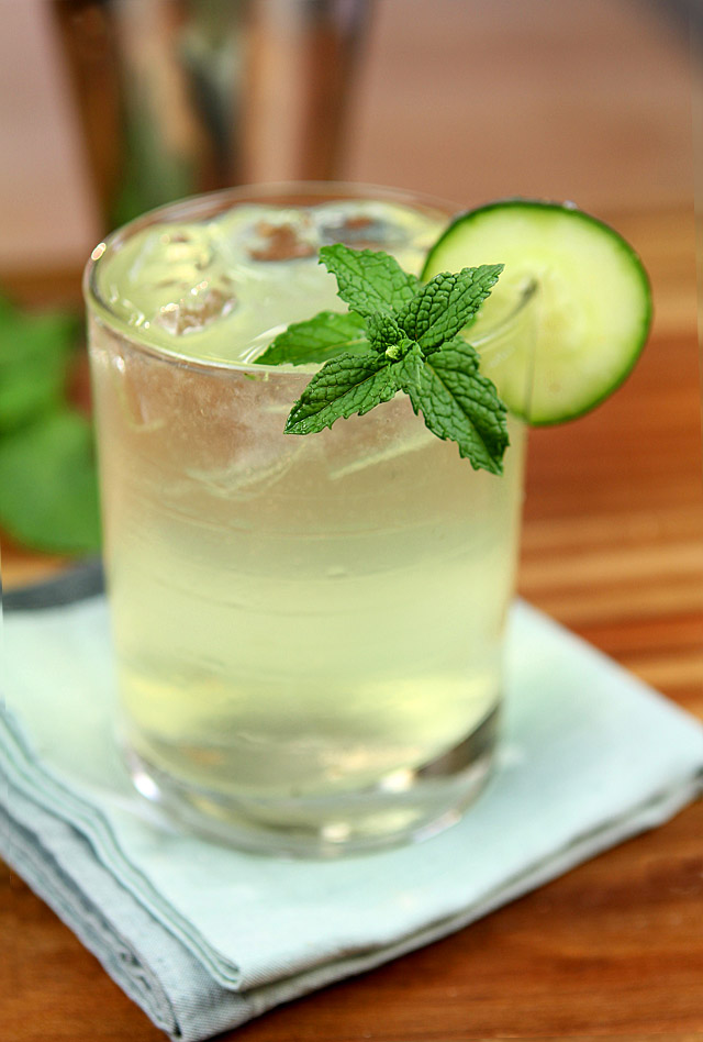 The kitty burke gin triple sec cucumber and mint for Best mixers for gin