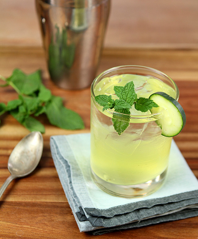 The Kitty Burke - Gin, Triple Sec, Cucumber and Mint