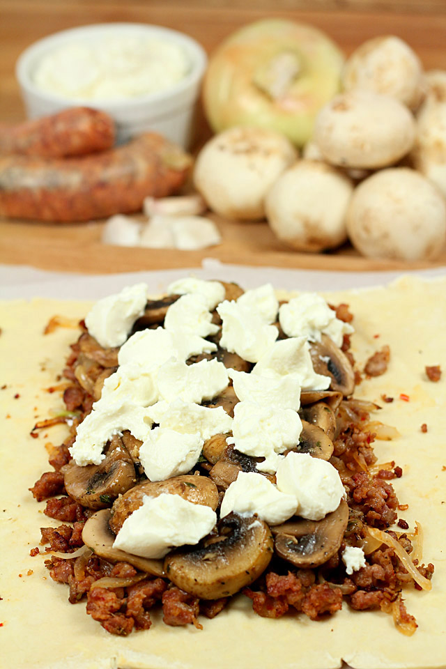 Goat Cheese for Goat Cheese, Sausage and Mushroom Wellington (or Pizza ...