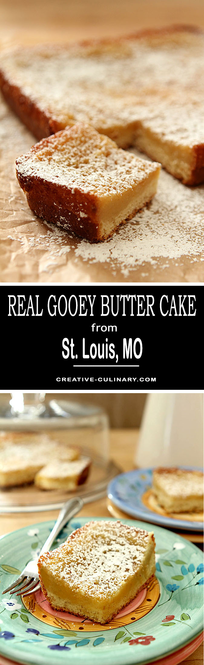 Nothing but the real thing will do. Real St. Louis Gooey Butter Cake is a yeast bread layer topped with the namesake 'gooey' layer. Walk away from the cake mix and try the real thing!