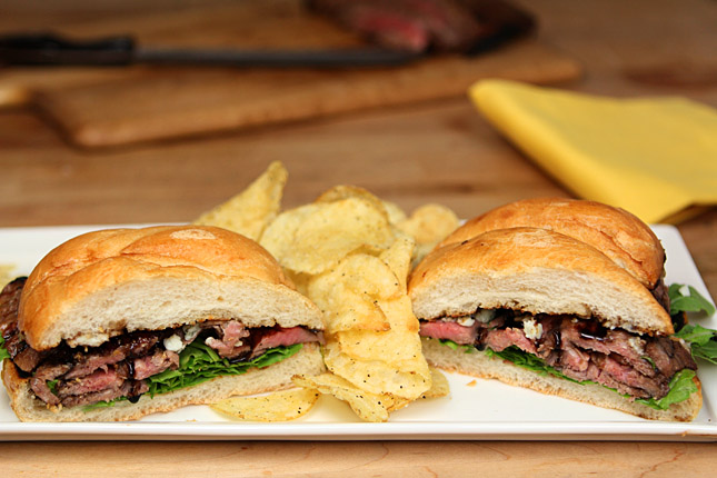 Balsamic and Blue Cheese Steak Sandwich from the National Beef Cookoff | Creative-Culinary.com