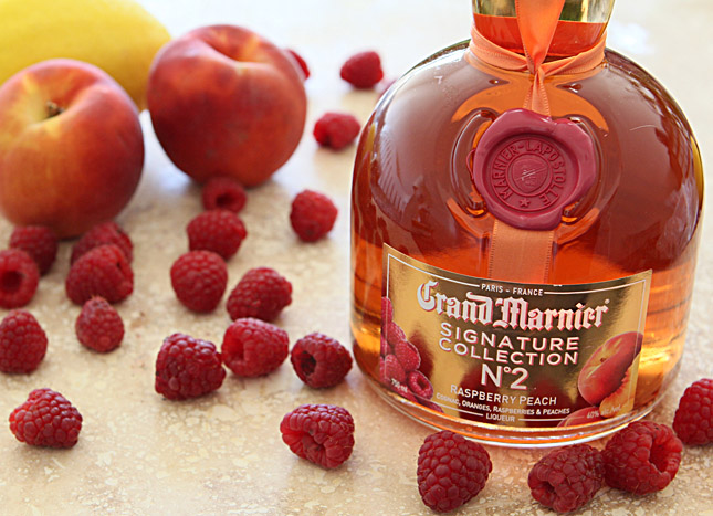 The Honey Deuce from the US Open with Raspberry and Peach Grand Marnier | Creative-Culinary.com