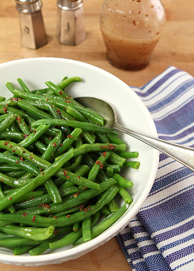 Green Beans with a Honey Mustard Vinaigrette