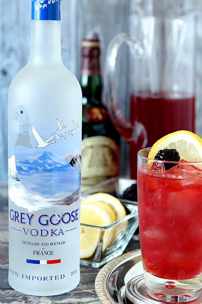 GREY GOOSE Kentucky Oaks Lily with Bottle of Grey Goose Vodka