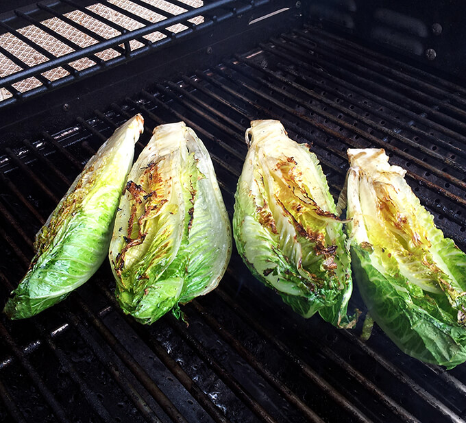Grilled Caesar Salad on the Grill