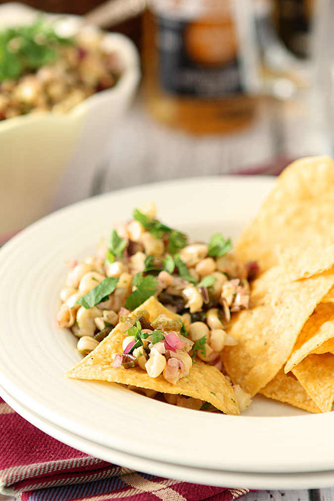 Grilled Corn Salsa with Poblano Pepper, Cilantro and Honey