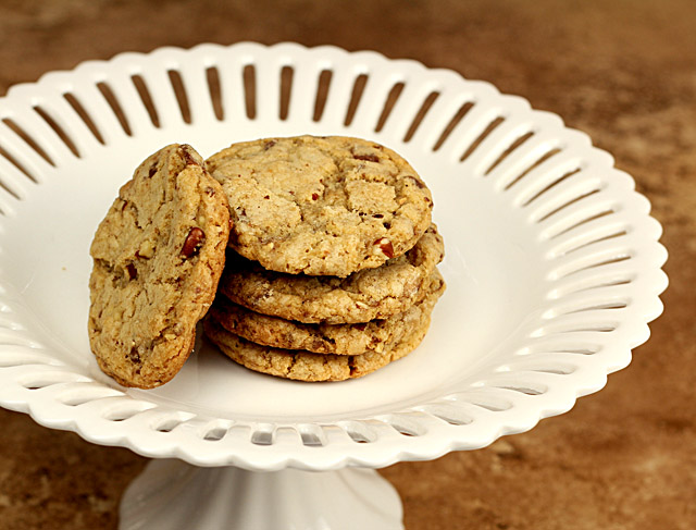 Browned Butter Heath Bar Cookies with Toasted Pecans for Lauren ...