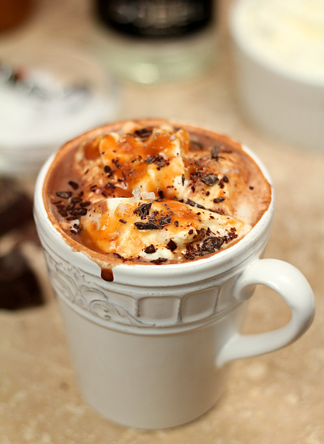 Salted Caramel Hot Chocolate with Tequila