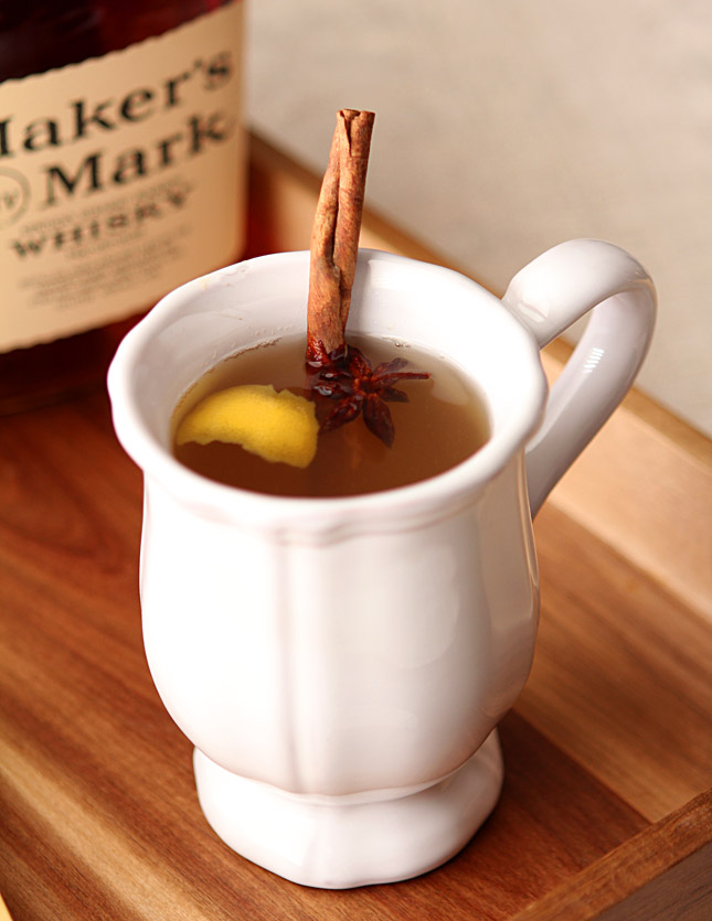 Whiskey Hot Toddy with Brown Sugar, Honey and Lemon