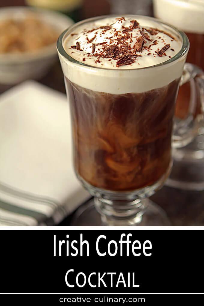 Classic Irish Coffee Cocktail PIN