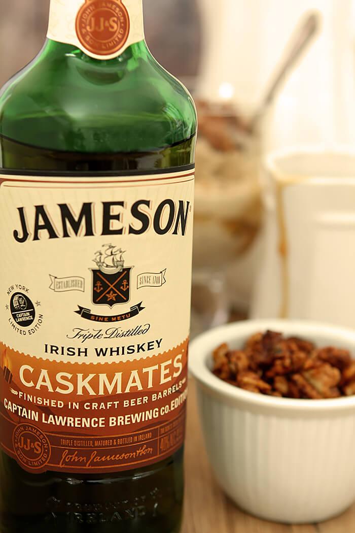 A bottle of Jamison Irish Whiskey