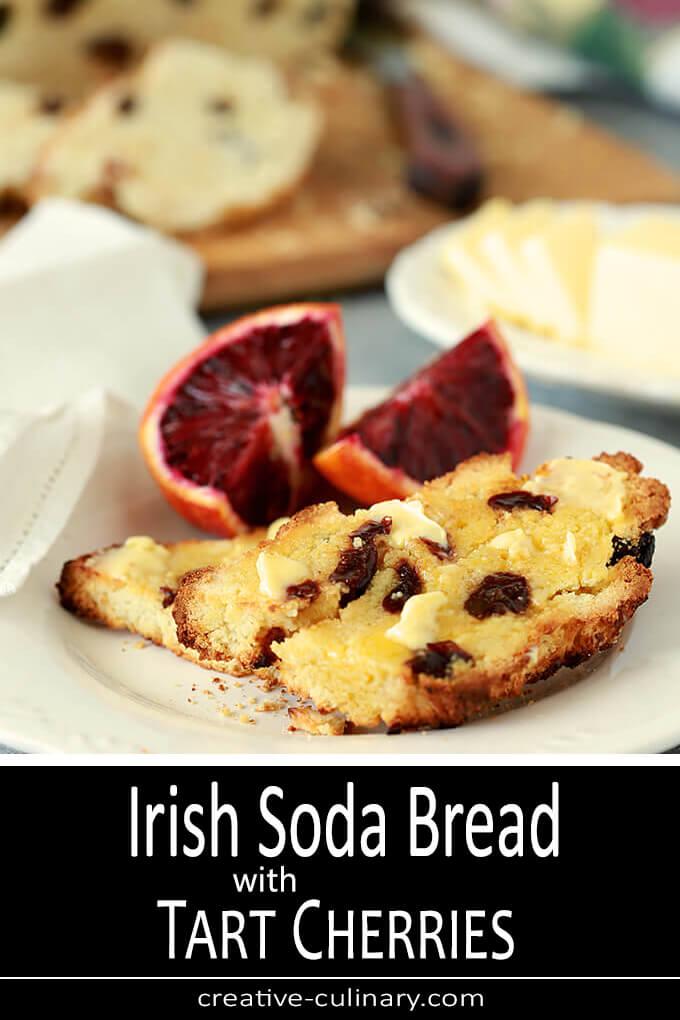 Irish Soda Bread with Tart Cherries