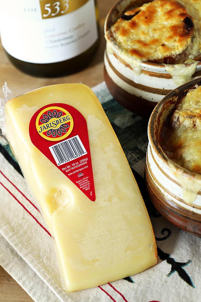 Block of Jarlsberg Cheese