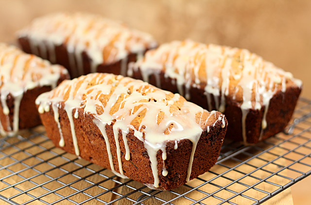 Gingerbread Kahlua Date Nut Bread with White Chocolate
