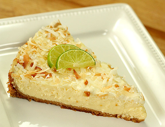 Coconut Key Lime Tart with Honey Yogurt Topping