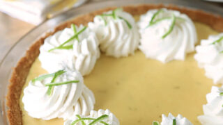 Key Lime Pie with Whipped Cream and Lime Zest