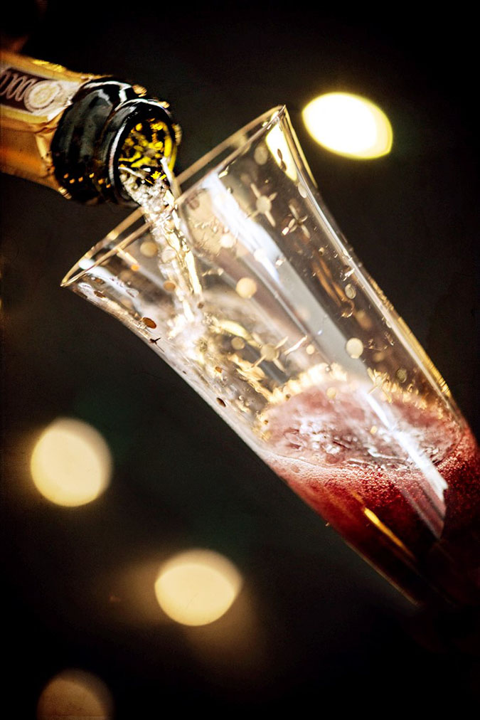 Kir Royale Cocktail for New Years Eve