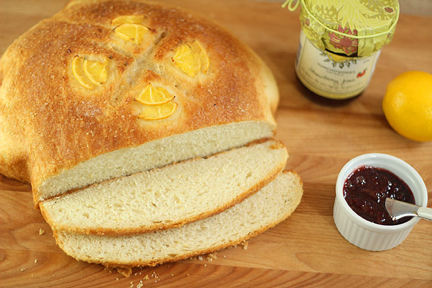 Meyer Lemon Peasant Boule for #Baketogether