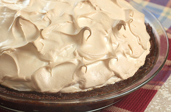 Meyer Lemon Meringue Pie with Ginger Lemon Crust