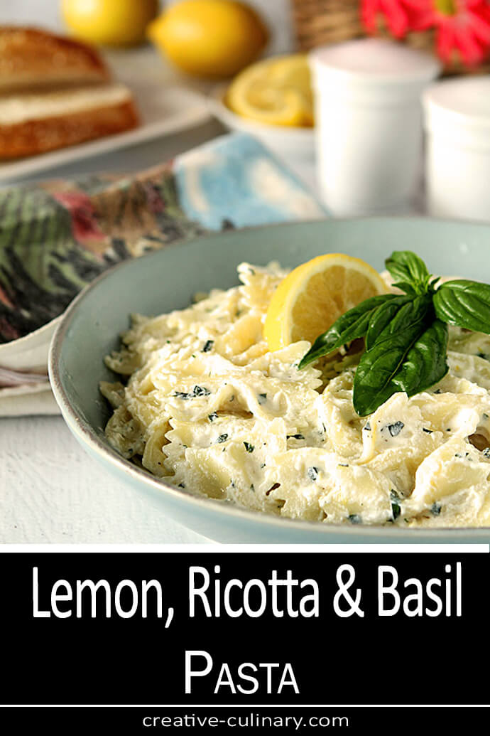 Lemon, Ricotta, and Basil Pasta