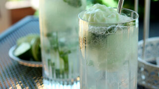 Lime Sherbet Mojito Float Cocktail