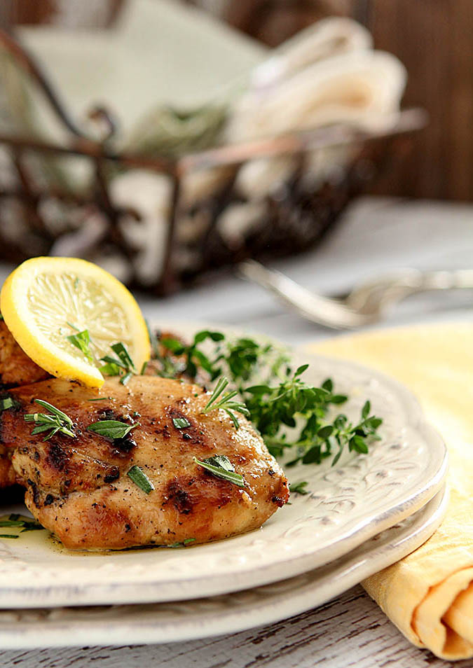 Limoncello Chicken Thighs | @creativculinary