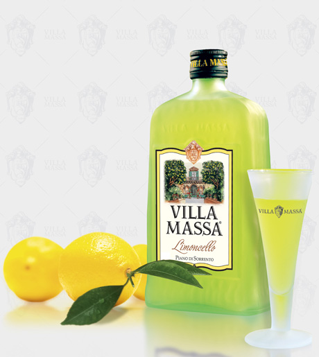 A bottle of Limoncello