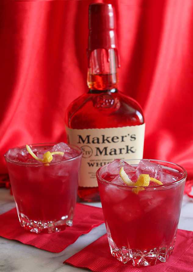 Lady in Red Cocktail - Bourbon, Pomegranate and Ginger Beer Cocktail